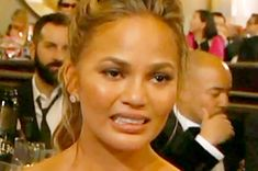 Chrissy Teigen's Cry Face At The Golden Globes 2016