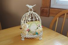 altered birdcage from michaels