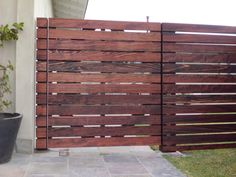 stained redwood fence - Google Search