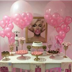 Best Ideas For Birthday Party Pictures Ideas Dessert Tables 25th Birthday Parties, Birthday Bash, Birthday Celebration, Girl Birthday, 21st Birthday Themes, Surprise Birthday, Adult Slumber Party, Bachelorette Slumber Parties, Marilyn Monroe Birthday