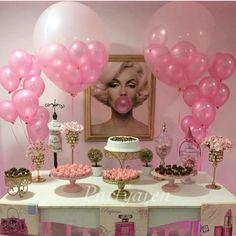 Decoración de mesa Marilyn Monroe Marilyn Monroe decorations