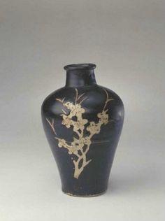 宋 吉州窑黑釉剔花梅瓶 - Song Dynasty, Collection of The Palace Museum, China