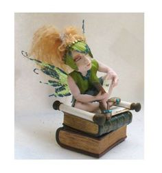 Baylie Music Book OOAK Fairy Fairies Art Doll by britpoprose99, $45.00
