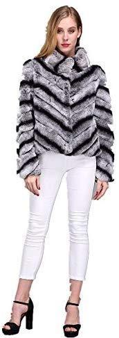 CHINCHILLA FUR JACKET Coats For Women, Jackets For Women, Clothes For Women, Rabbit Fur Jacket, Denim Trench Coat, Rex Rabbit, Chic Dress, Outerwear Jackets, Chinchilla Fur