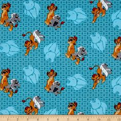 Disney  Lion Guard Friend Power Turquoise from @fabricdotcom  Designed by Disney and licensed to Springs Creative Products, this cotton print fabric is perfect for quilting, apparel and home decor accents. Colors include black, pink, white, blue and green. Due to licensing restrictions, this item can only be shipped to USA, Puerto Rico, and Canada.