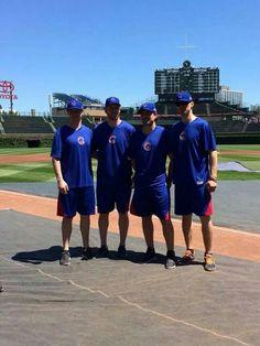 #17, #29, #10, #26 at Cubs batting practice