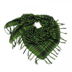 http://www.artfire.com/ext/shop/studio/bohemiantouch/1/1/10311//  Green and Black Plaid, scarf with fringed tassel ends is a great addition to your collection of fashion accessories. Perfect for spring to fall.