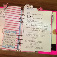 Will definetely have a quote in my kikki k planner  to motivate me :)