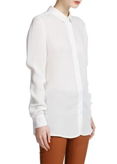 Classics white blouse with Peter Pan collar from MANGO US for $60.