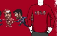 Fun Formula 1 t-shirt with the drivers with big heads.
