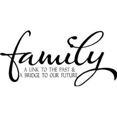 FAMILY - A LINK TO THE PAST & A BRIDGE TO OUR FUTURE Vinyl wall lettering stickers quotes and sayings home art decor decal