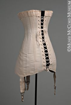 Back view of corset: 1910-20