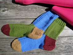No time for matching socks!  Hand knitted socks by woolpleasure on Etsy, $24.99
