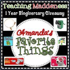 *Teaching Maddeness*: Amanda's Favorite Things Giveaway!