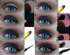 Beauty blog: Fotonávod: černorůžové líčení