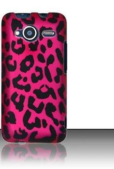 Pink Leopard Rubber Touch Phone Protector Hard Back Cover Case for HTC EVO Shift 4G