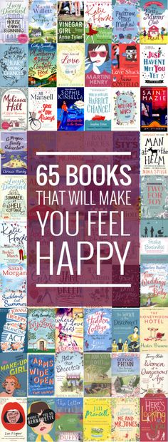 65 books that will make you feel happy. I just love reading easy-going books that have a happy ending. We live in a world where there is so much bad news, that I like a bit of escapism. Reading is so relaxing, so I am saying to you, leave the housework, put down your phone and pick up a book! I highly recommend joining your local library, then you can take out books for FREE and there are so many to choose from. Here are 65 that I have read over the past 3 years.