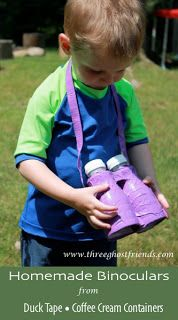 Toy binoculars ~ recycled plastic containers