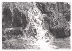 This pencil drawing is of Franklin Creek in Mineral King, California. It is one of a series of pencil drawings done during the wet winter of 2016-2017.