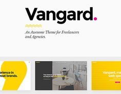"""Check out new work on my @Behance portfolio: """"Vangard - A Theme for Freelancers and Agencies"""" http://be.net/gallery/44804491/Vangard-A-Theme-for-Freelancers-and-Agencies"""