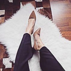 Classy nude heels