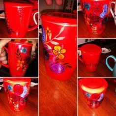Flores en tazón rojo 🥀 Tableware, Red, Flowers, Dinnerware, Dishes