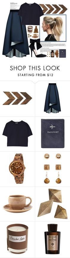 """Jazz Skirt"" by nellylein ❤ liked on Polyvore featuring WALL, Sachin + Babi, T By Alexander Wang, Chloé, FOSSIL, Earth, Joe Fresh, Toast, CB2 and Olfactive Studio"