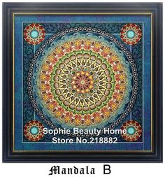 2016 New Diamond Cross Stitch Embroidery Full Needlework Diy Diamond Mosaic Painting Kit Universe Meditation Mandala Series