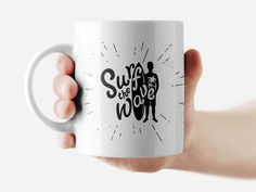 Surf the wave Mug Funny Rude Quote Coffee Mug Cup Q309 #Handmade