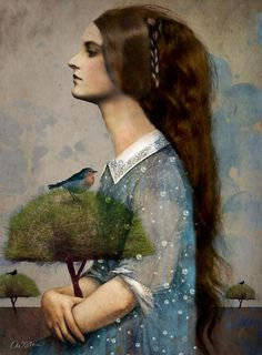 flat by Catrin Welz-Stein  - Mixed media Illustrations by Catrin Welz-Stein  <3 !