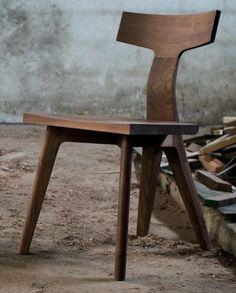UK designer Matthew Hilton's Fin Dining Chair is available in American white oak or American black walnut; $1,125 at De La Espada