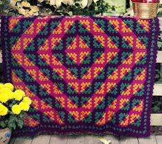 BEAUTIFUL Barn-Raising Afghan/Crochet Pattern Instructions