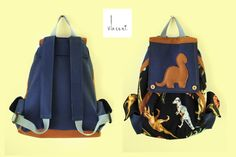 Mathias/dino/handmade in Italy/for child/one piece/home fabrics/eco-leather,