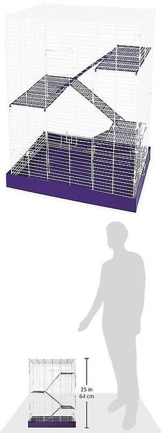 Cages and Enclosure 63108: Hamster Cage Gerbil Guinea Pig Rat Mice Chinchilla Mouse Rodent Small Animal Pet BUY IT NOW ONLY: $38.34