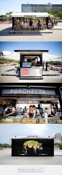 porchetta. shipping container kiosk eatery.