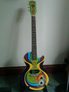 'Lola' - a 2010 Gibson Les Paul Junior hand painted by the wonderful @Nikki Morris and played by me at our Motor Neuron Disease fund raiser xx