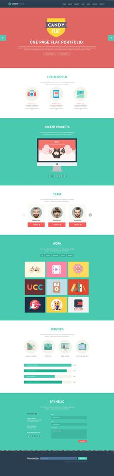 Candy - #Flat #Onepage #Responsive #HTML5 #Template