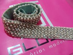 Cinto bordado perolas e strass Exclusivo Gloss Acessórios & Ateliê