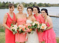 beautiful coral bridesmaid dresses - Google Search