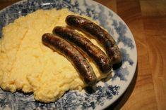 Könnyű rántotta nürnbergi kolbásszal (rántotta másképp) Wok, Sausage, Brunch, Favorite Recipes, Meals, Breakfast, France, Morning Coffee, Meal