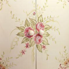 Valeria Handpainted Floral Storage Cabinet