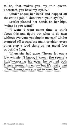 Thorne, the lunar chronicles