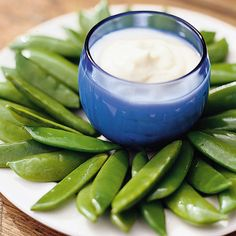 Sugar Snap Peas with Honey-Mustard Dip