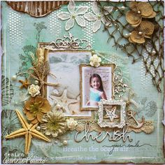 Cherish Your Smile scrapbook layout - Such a Pretty Mess: The Scrapbook Diaries