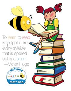 Children's Book Day, Books, Read, Reading, Education, Victor Hugo, Buzz Bee, National Math Bee