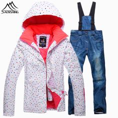 VECTOR Boys Girls Ski Suits Warm Waterproof Children Skiing Snowboarding  Jackets + Pants Winter Kids Child Ski Clothing Set  48be80d99