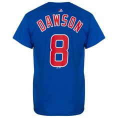 Chicago Cubs Men's Royal Andre Dawson Player Name and Number Tee by Majestic #Chicago #Cubs #ChicagoCubs
