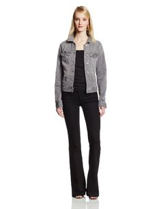Two by Vince Camuto Women's Grey Jean Jacket
