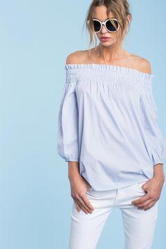 Women's Blouses | Yolanda Stripe Off Shoulder Top | A'GACI