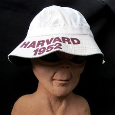 0ffbd703891 Vintage Harvard University 1952 Reunion Bucket Hat Fishing Cap Ivy League  School  XL  BucketHat